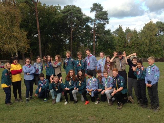 World Scout Jamboree Tonbridge District Selection Camp - funny faces photo